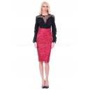 Skirt Red Lace