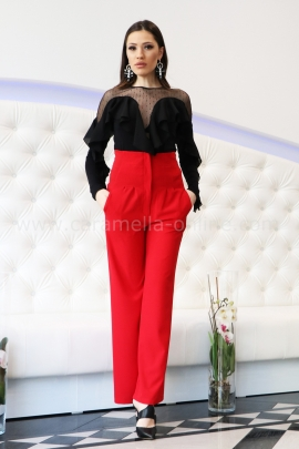 Pants Red Lux
