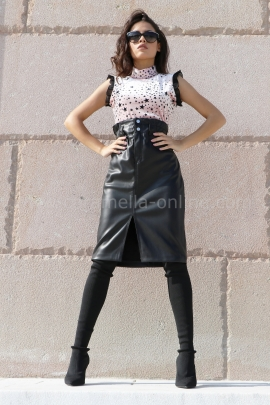Leather skirt WD