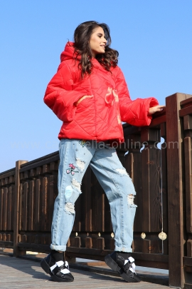 Jacket Red Casual