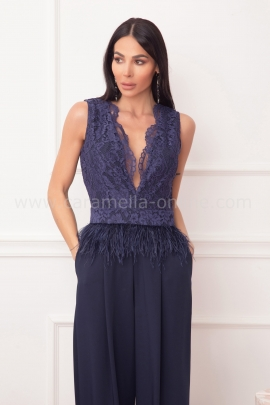 Jumpsuit Blue Grandeur