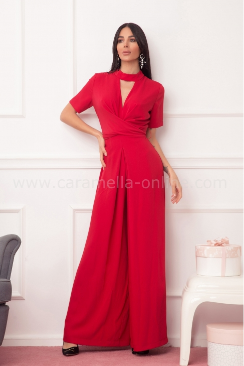 Jumpsuit In Red 042060