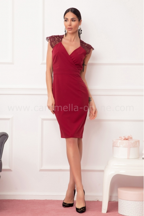 Dress Lace Bordo 012577