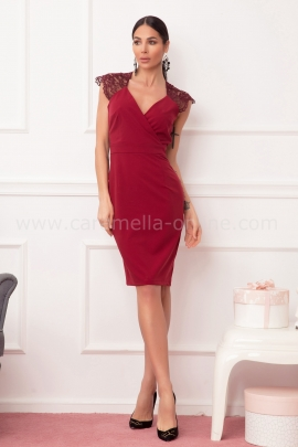 Dress Lace Bordo