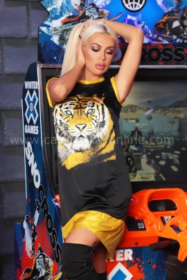 Dress Tiger Satin