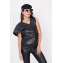 Top Black Leather